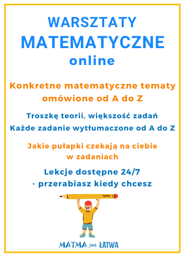 baner warsztaty matematyczne online