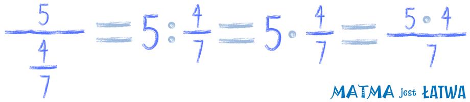 dzielenie liczby przez ułamek
