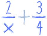 wspólny mianownik gdy jest x