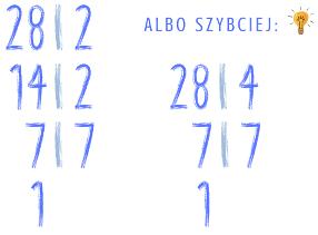 rozkładanie liczby na czynniki pierwsze